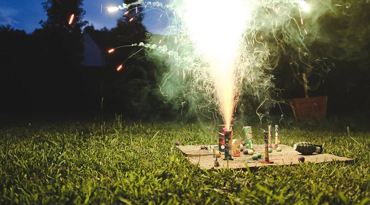 Backyard Fireworks Texas 07042019
