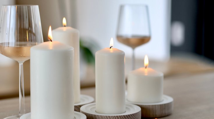 wine tasting with candle-making by Wax + Wine