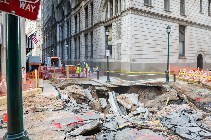 Carroll - Water Main Break in Center City