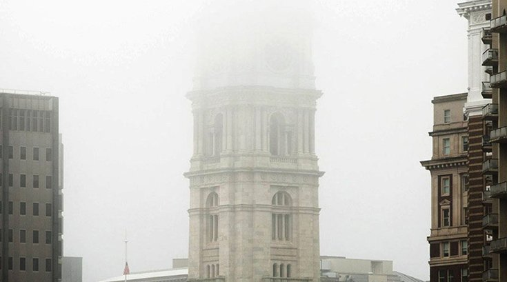 Philadelphia City Hall Fog 07232019