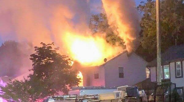 lightning winslow township fire