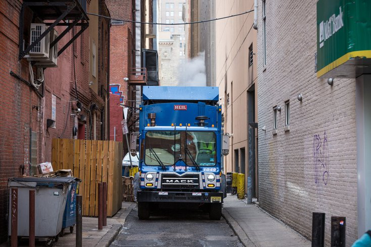 Philadelphia trash recycling collection