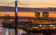 Stock_Carroll - Benjamin Franklin Bridge and Delaware River Waterfront