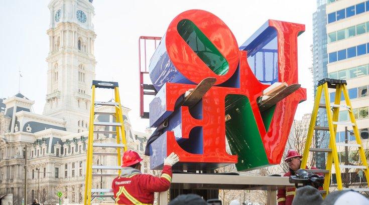 Carroll - LOVE sculpture returns