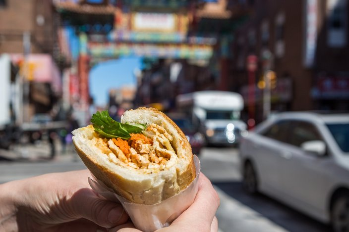 Stock_Carroll - Banh mi street food in Chinatown