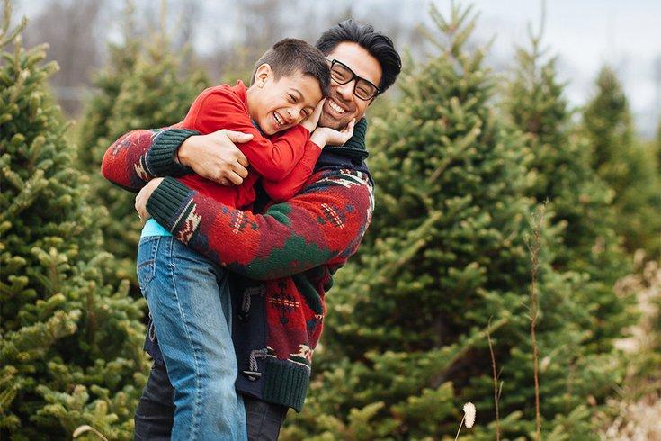 Father Son Christmas Trees 08032019