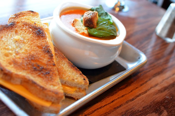 Milkboy grilled cheese and soup