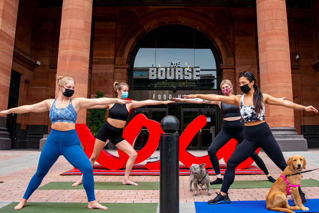 Doggy Yoga at The Bourse