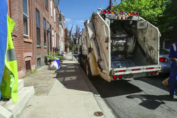 Philly trash recycling collections