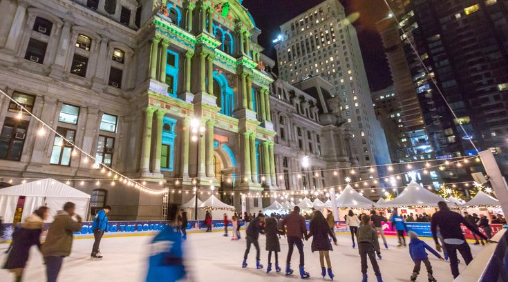 Carroll - Deck the Hall Light Show and Rothman Institute Ice Rink