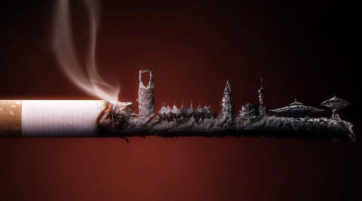 Smoking Cigarette Ashville 09032019