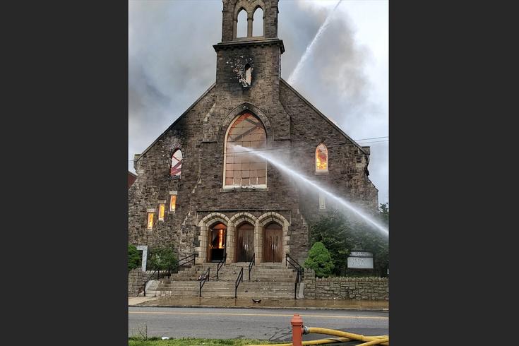 St. Leo Church Philly fire