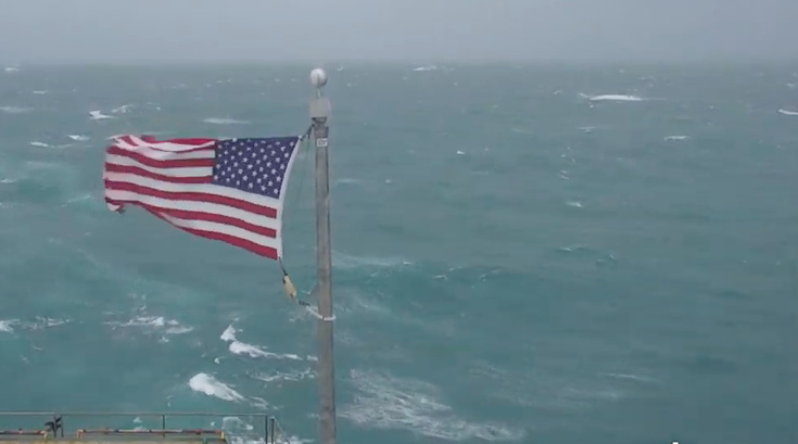 Hurricane Dorian Frying Pan flag