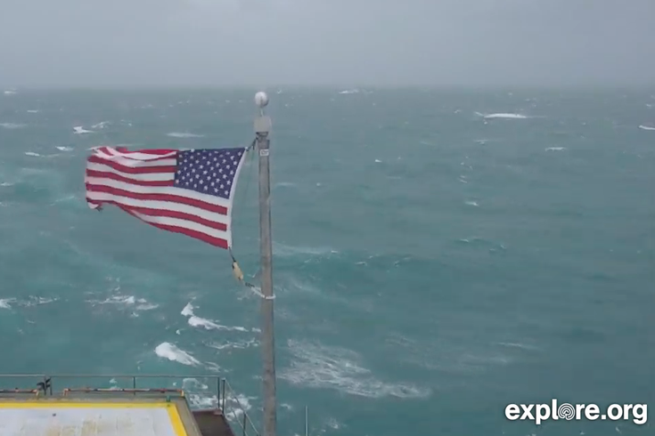Hurricane Dorian Frying Pan flag