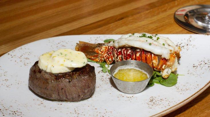 Urban Farmer steak and lobster dinner