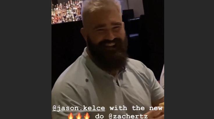 Jason Kelce Blond Hair