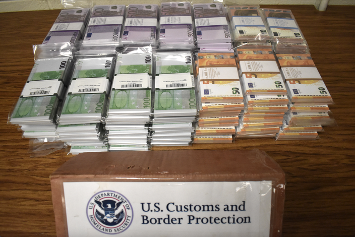 Counterfeit Euros CBP Philly