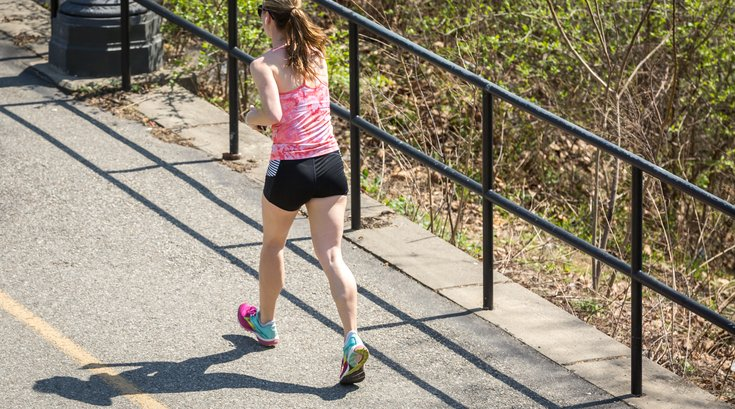 Stock_Carroll - Running on the Schuylkill River Trail in Philadelphia