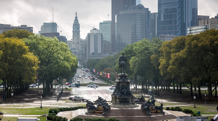 Carroll - Philadelphia City Hall and the Benjamin Franklin Parkw