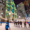 Dilworth Park light show Wintergarden