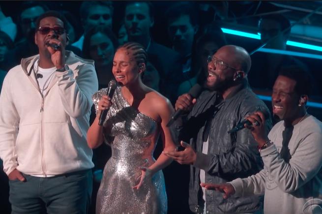Kobe Bryant tribute Alicia Keys Boyz II Men