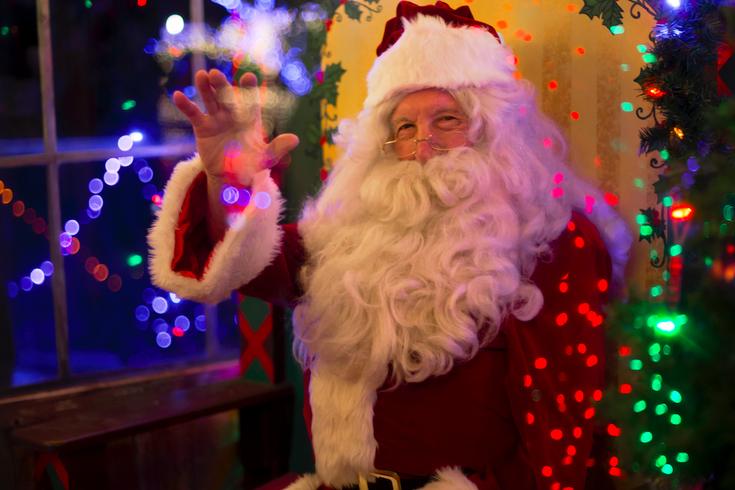 Santa visiting local malls
