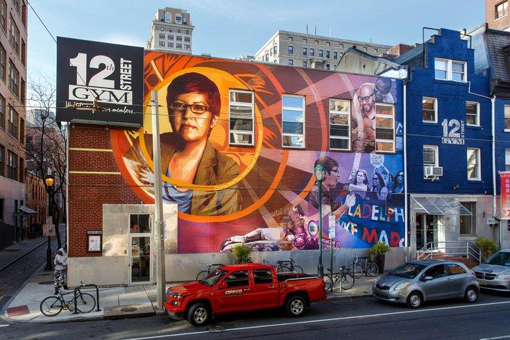 Gayborhood mural Gloria Casarez