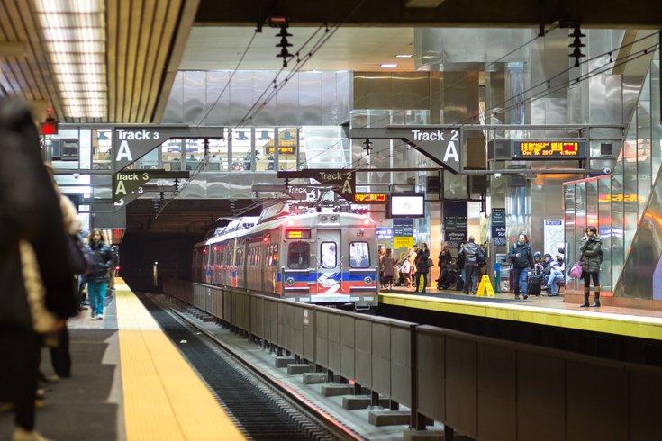 Stock_Carroll - SEPTA Regional Rail Train at Jefferson Station