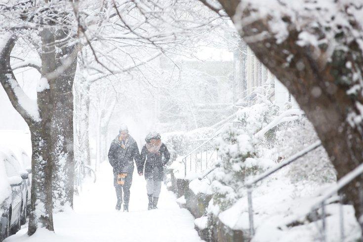 Carroll - Snow falls in West Philadelphia