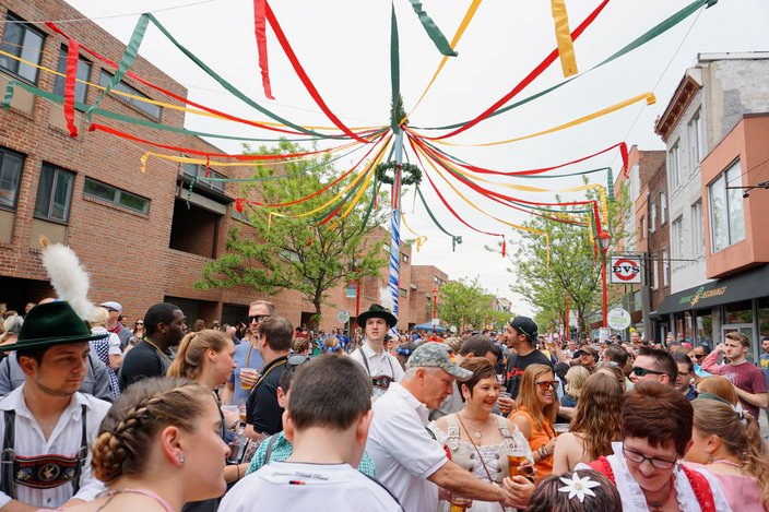 Maifest at the South Street Spring Festival