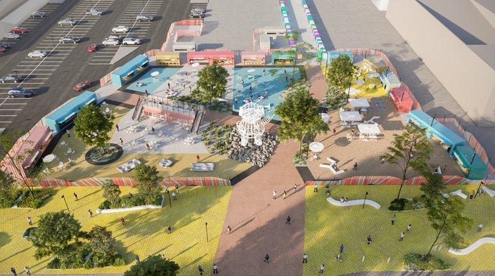 Northern Liberties Piazza Pod Park rendering