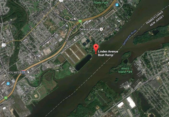 Linden Avenue Boat Ramp, Delaware River, Torresdale