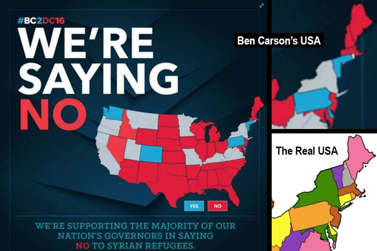 Ben Carson Map Of Us Ben Carson's New England is a sight to behold | PhillyVoice