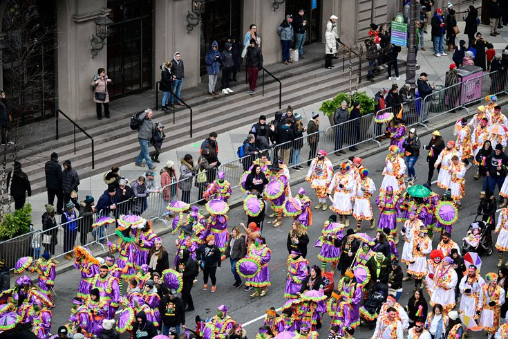 mummers protest parade 2021