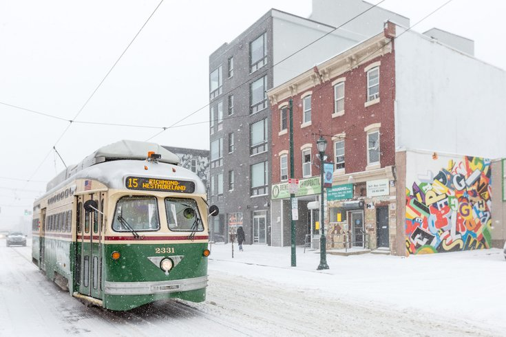 Carroll - Snow SEPTA Trolley