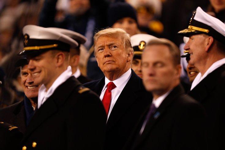 Trump Army Navy game Philadelphia