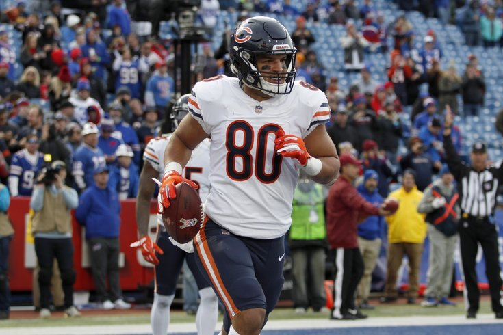 Trey Burton with the Chicago Bears