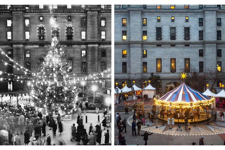 Carroll - Then and Now Philadelphia Holidays