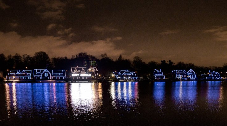 Boathouse Row Hanukkah lights