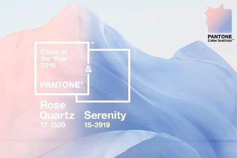 Pantone 2016 Colors Of The Year Rose Quartz Serenity