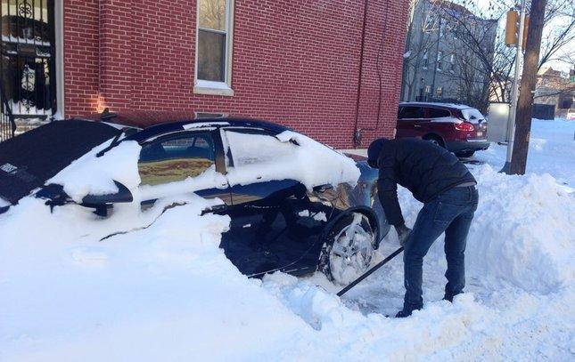 Philadelphia snow shoveling