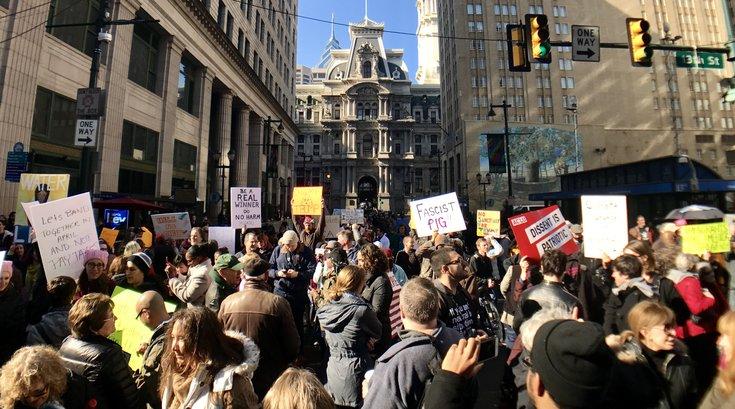 13th Street Trump protest