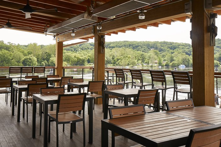 The patio at Stella, new Garces restaurant in Bucks County