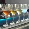 rainbow wine flight