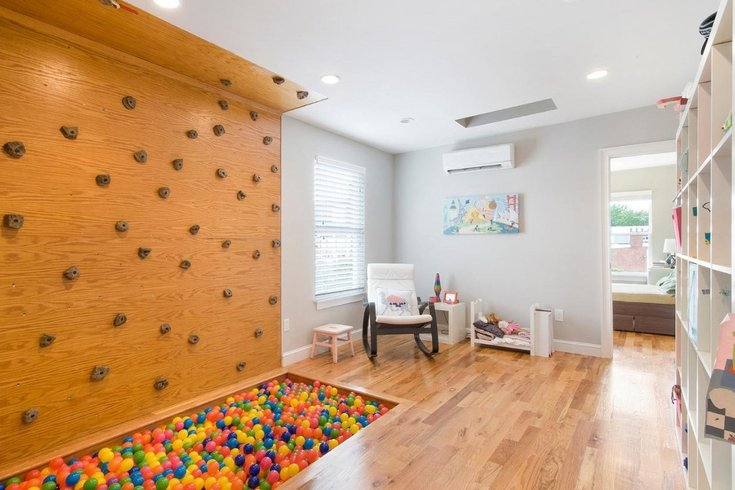 Philly Home For Sale Has A Ball Pit And Rock Climbing Wall