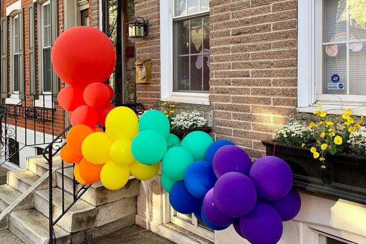 Rainbow balloons Fairmount