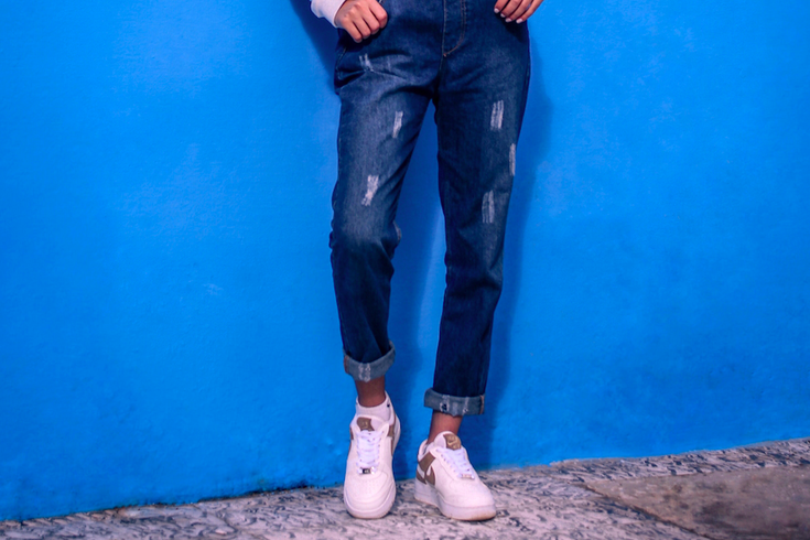 upcycle denim with Anthropologie