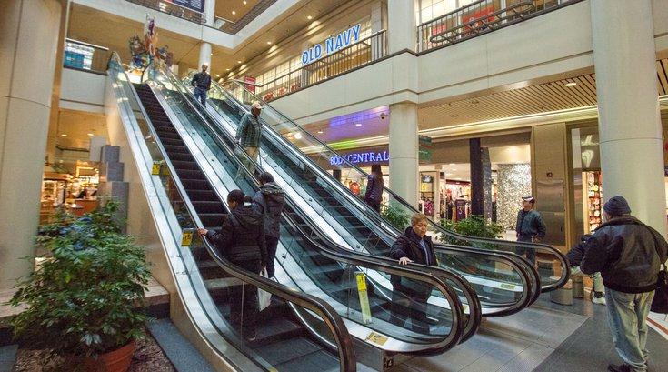 The Gallery escalators