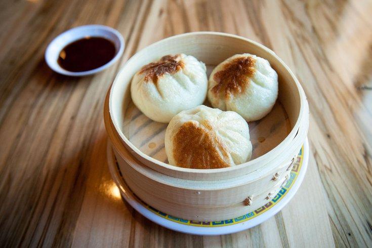 Pan-Fried Bao with Reuben filling.