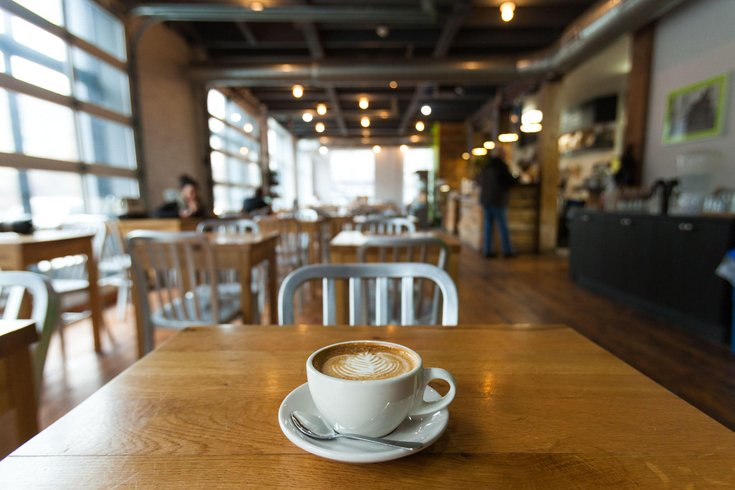 Best Philadelphia Cafes For Lounging Or Working All Day Long - Long cafe table